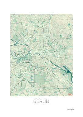 Berlin Map Blue