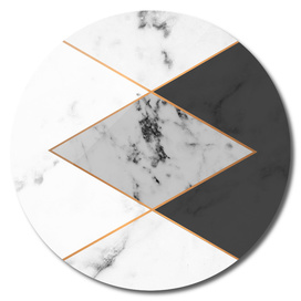Geometric marble & copper