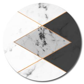 Geometric marble & copper