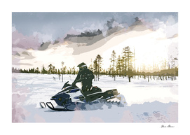 End of Day Snowmobiling