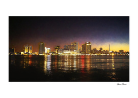 Nighttime Skyline of New Orleans