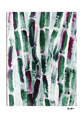 Greenery and Purple Art Sugar Cane