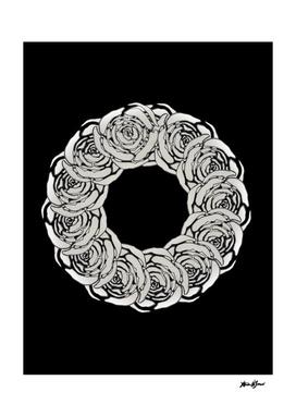White Rose Wreath