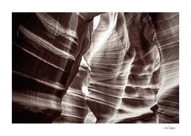 Waves of sandstone at Antelope Canyon