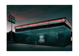 Sci-Fi Gas Station