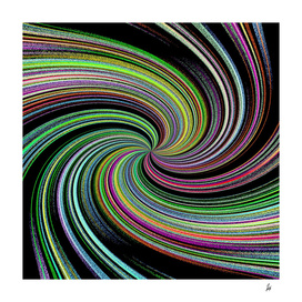Abstract Colorful Twirl