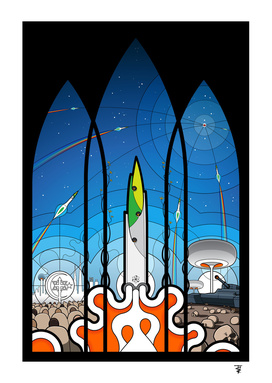 The Window of Opportunity - stained glass window print