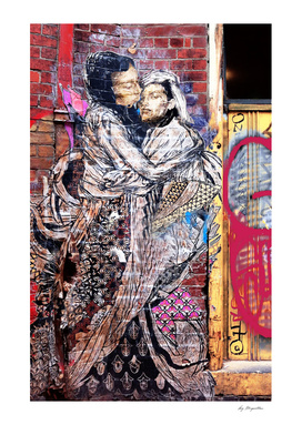 Hugging Couple Graffiti, Melbourne