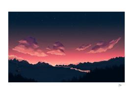 Cloudy Sundown