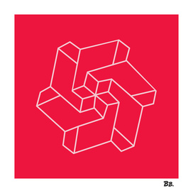 Minimal /  Chakra Symbol Art / Optical Illusion Star