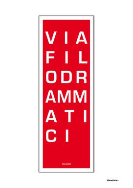 Via Filodrammatica - Milano