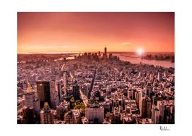 Manhattan in red