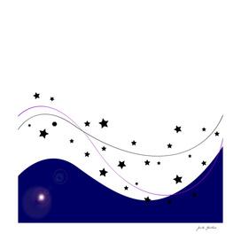 Heaven comets. Original artwork.