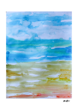 Miami Beach Watercolor #1