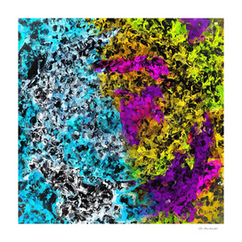 psychedelic graffiti abstract in pink yellow blue green