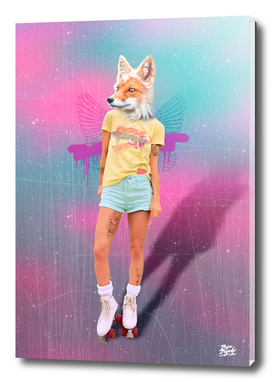Roller Fox Girl Pepe Psyche