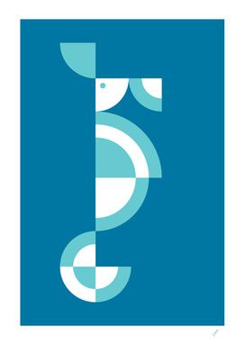 Quadrant Blue Seahorse