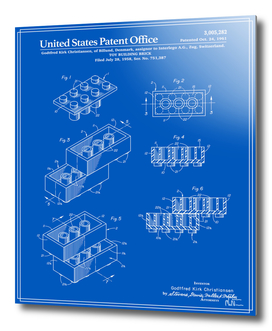 Toy Building Brick Patent - Blueprint
