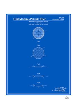 Golf Ball Patent - Blueprint