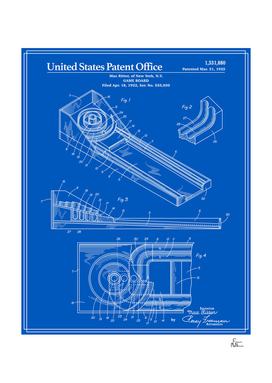 Skee Ball Patent - Blueprint