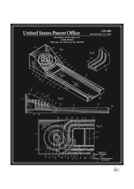 Skee Ball Patent - Black