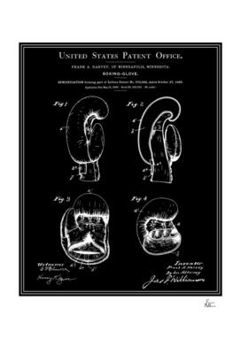 Boxing Glove Patent - Black
