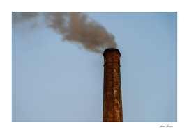 Industry Smoke Pollution From Factory Chimney