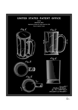 Beer Mug Patent - Black