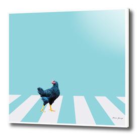 chicken crossing the street