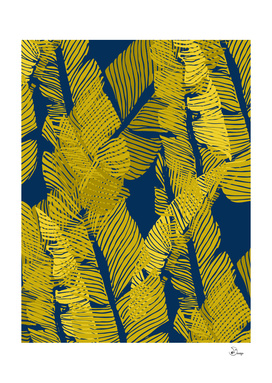 Carved Yellow&Blue Jungle