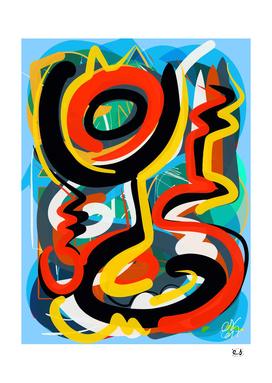 Abstract Tribal Art