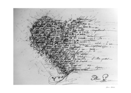 """Heart shaped calligraphy"""