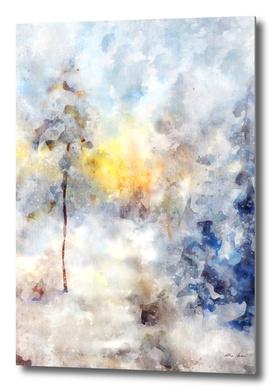 Abstrract Wall Art, Blue Art, Watercolor Art