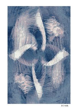 Blue & White Whirlygig