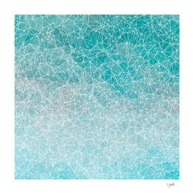 Polygonal blue and white