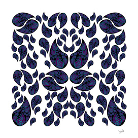 Paisley purple and blue