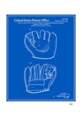 Baseball Glove Patent - Blueprint