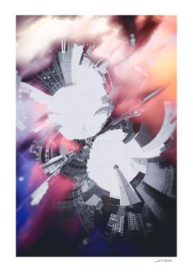 Artistic LXXX - Abstract Fractal Lens CityScape II / NE