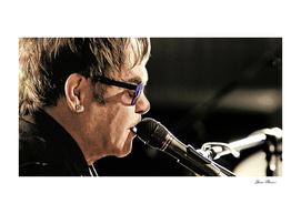 Elton John at the Mic
