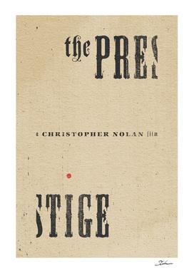 THE PRESTIGE / alternative typographic movie poster