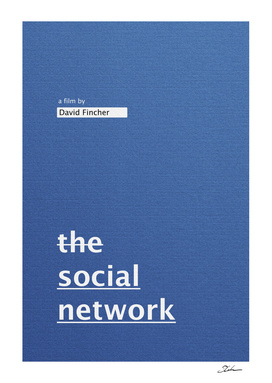 THE SOCIAL NETWORK / alternative typographic movie poster