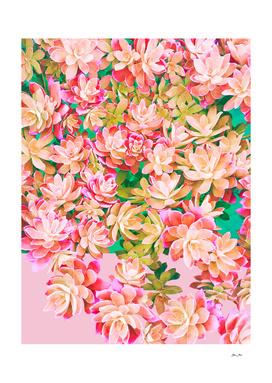 Cactus Fall - Pink & Green