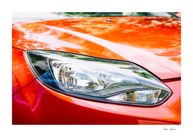 Red Car Headlight