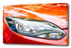 Red Car Headlight