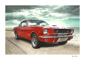 Red Ford Mustang Cobra