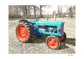 Fordson Tractor in Winter Field