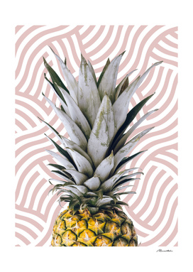 Pineapple on wave pattern