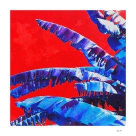 Banana Jungle - Blue & Red