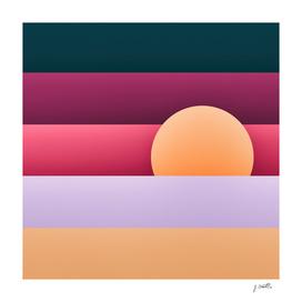 Sunset at Miami beach