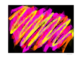 psychedelic geometric polygon abstract in pink yellow